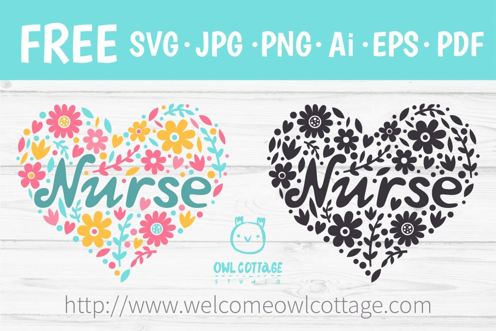 Floral Stethoscope SVG, Nurse Floral SVG