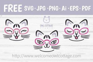 Cute Kitten Free Svg