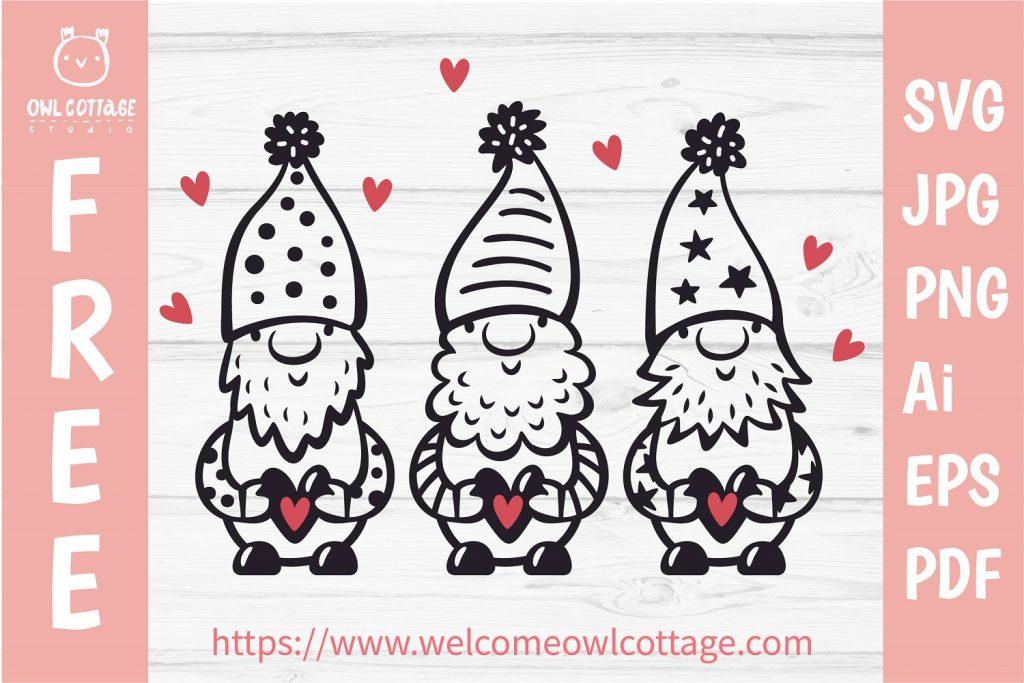 Valentine Gnomes, Gnome Holding Heart Svg, Valentine's Day Svg