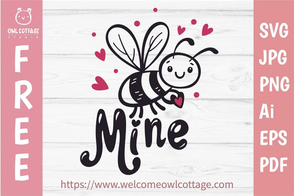 Bee Mine Svg, Svg for Valentines Day, Love, Bee Holding Heart Svg, Valentine's Day Svg, Valentine , Valentines Day svg, Valentines svg, Valentines files for Cricut, Silhouette Cameo,