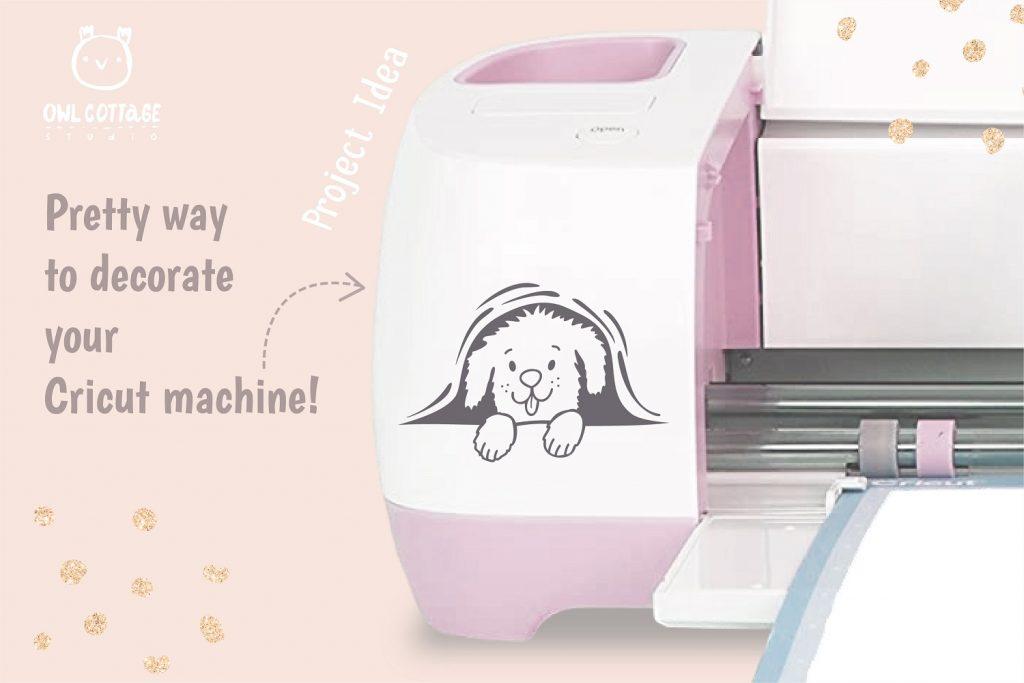 Cute Peeking Dog SVG for Cricut Mashine decorating