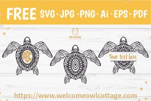FREE Sea Turtle SVG Cut File from Owl Cottage Studio Free Designs Gallery