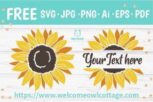 Sunflower SVG Monogram