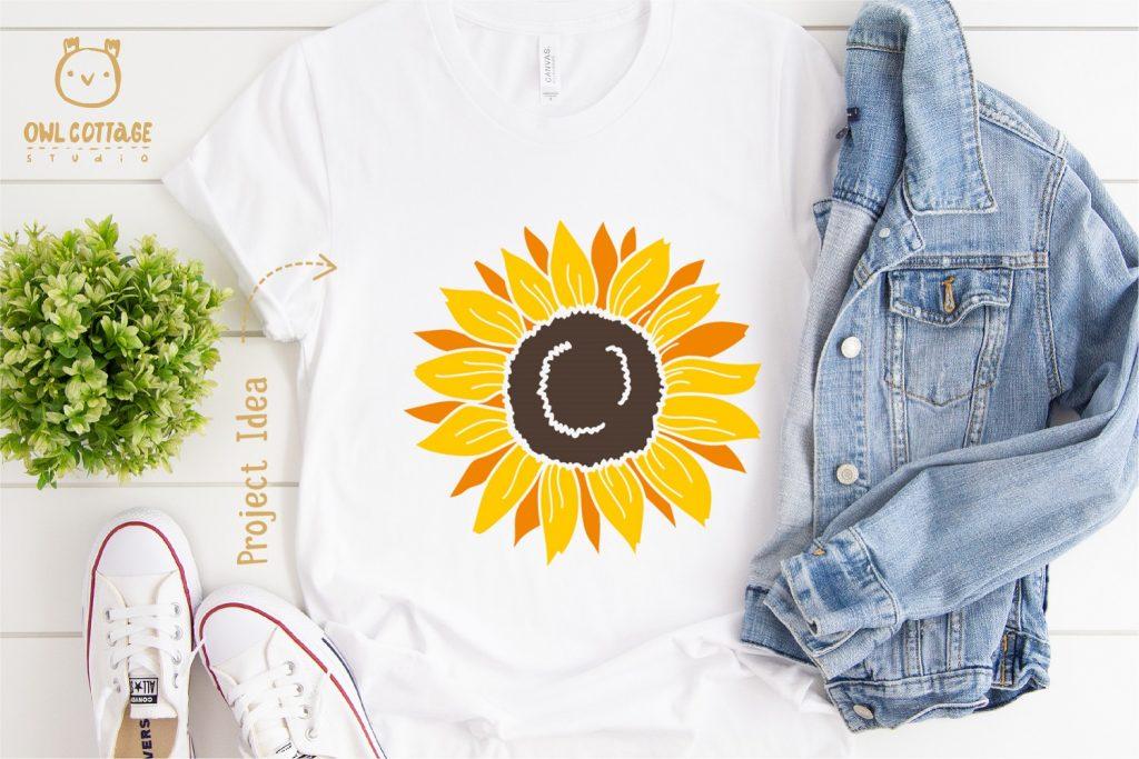 Sunflower SVG for T-Shirt