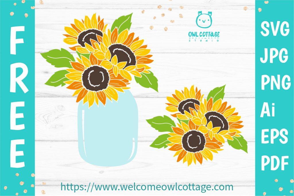 Sunflowers Mason Jar