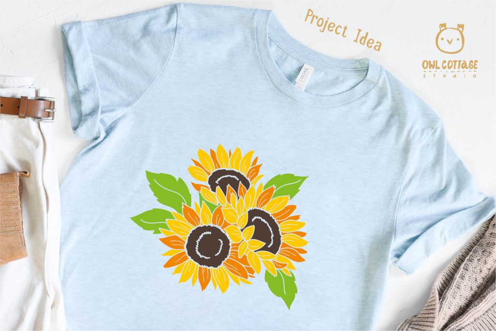 Sunflowers for T-Shirt