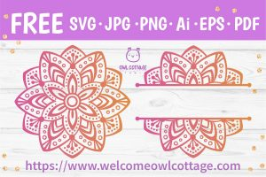Mandala SVG Ornament for Crafting with Cricut and Silhouette