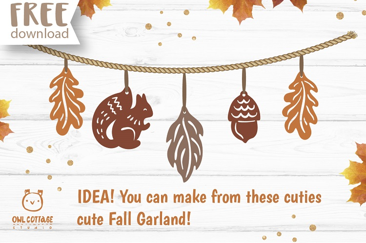 FREE Fall Forest Earrings Templates svg. Also suitable for Gift Tags and Garlands.