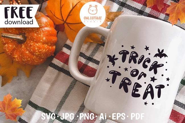 FREE Trick or Treat svg for mug