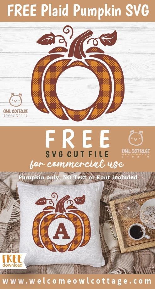 FREE Plaid Pumpkin svg, Free Checkered Pumpkin cut file