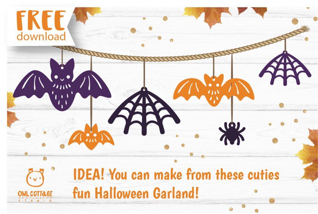 FREE Halloween Earrings Templates svg, Halloween Garland cut file for Cricut
